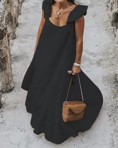Sukienka Kendallme maxi z długim rękawem