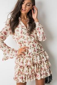 Sukienka Ivivi mini rozkloszowana z dekoltem w kształcie litery v