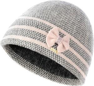 Szara czapka prima moda