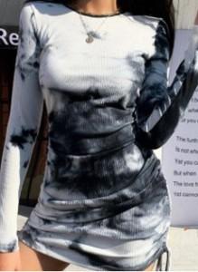 Sukienka Cikelly ołówkowa z okrągłym dekoltem