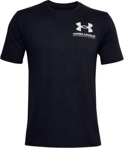 Czarny t-shirt Under Armour w sportowym stylu z krótkim rękawem