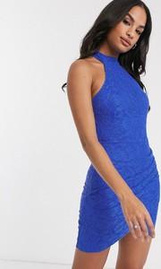 Niebieska sukienka Ax Paris z golfem
