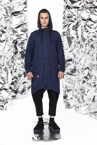 Niebieska kurtka NIMT z bawełny