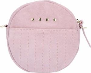 Różowa torebka VITTORIA GOTTI na ramię średnia zamszowa