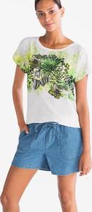 T-shirt CANDA w młodzieżowym stylu z krótkim rękawem z szyfonu