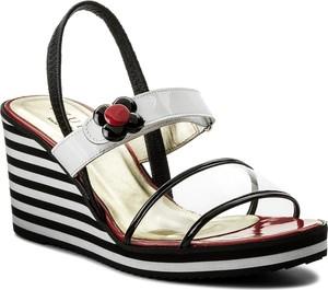 Sandały Azurée ze skóry w stylu casual