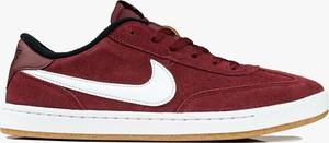 Czerwone buty sportowe Nike sznurowane sb