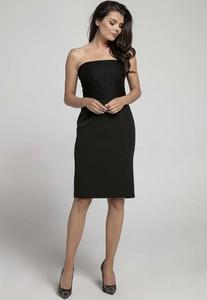 24c2036f czarna sukienka tuba - stylowo i modnie z Allani