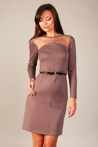 Fioletowa sukienka sukienki.pl z bawełny