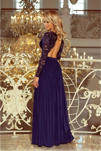 Sukienka NUMOCO rozkloszowana maxi z dekoltem na plecach