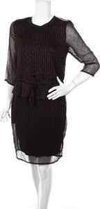Sukienka Co'couture prosta z długim rękawem z okrągłym dekoltem