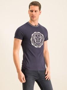 T-shirt Guess z nadrukiem z krótkim rękawem