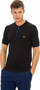 Czarna koszulka polo Galvanni z krótkim rękawem