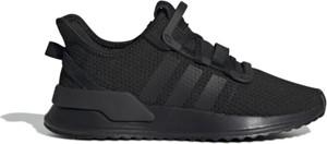 Buty sportowe Adidas sznurowane z płaską podeszwą w street stylu