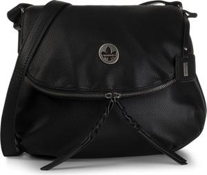 Czarna torebka Rieker średnia na ramię