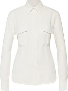 Koszula Calvin Klein z kołnierzykiem z szyfonu