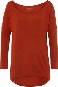 Czerwona bluzka Cross Jeans w stylu casual