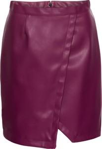 Fioletowa spódnica bonprix rainbow midi w street stylu