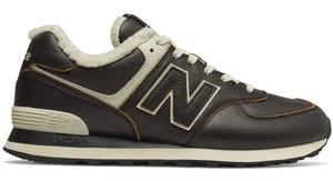 Buty sportowe New Balance w sportowym stylu ze skóry sznurowane