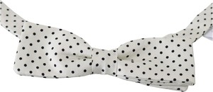 Dolce & Gabbana Dotted Silk Adjustable Neck Papillon Bow Tie