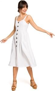 Sukienka Be na ramiączkach midi z dekoltem w kształcie litery v