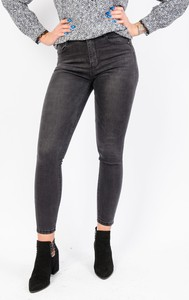 Czarne jeansy Olika z jeansu