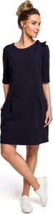 Czarna sukienka MOE z dzianiny z długim rękawem mini