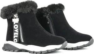 Czarne buty dziecięce zimowe Royalfashion.pl na zamek