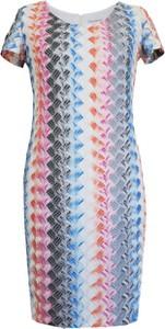 Sukienka Vitovergelis z krótkim rękawem z okrągłym dekoltem