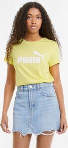T-shirt Puma z okrągłym dekoltem z bawełny
