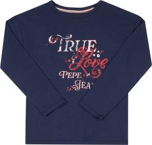 Granatowa bluzka dziecięca Pepe Jeans z długim rękawem