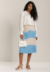 Niebieska spódnica Renee midi