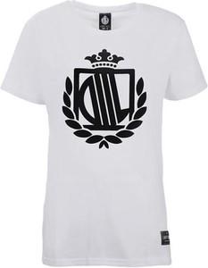 T-shirt Diil Hg Hemp Gru w młodzieżowym stylu z okrągłym dekoltem z bawełny