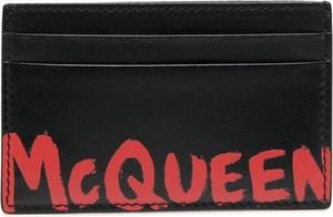 Czarny portfel męski Alexander McQueen
