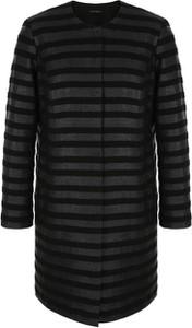 Czarny płaszcz VitoVergelis w stylu casual