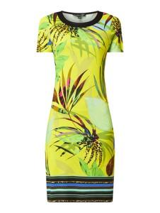 Zielona sukienka Smashed Lemon z okrągłym dekoltem