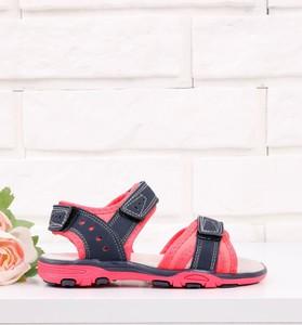 Czerwone buty dziecięce letnie Yourshoes dla dziewczynek na rzepy
