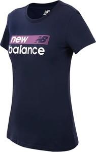 Bluzka New Balance w sportowym stylu z dżerseju z krótkim rękawem