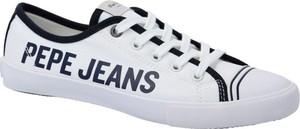 Trampki Pepe Jeans sznurowane z płaską podeszwą