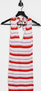 Sukienka Asos mini z okrągłym dekoltem