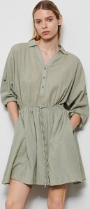 Sukienka Reserved z długim rękawem mini z bawełny