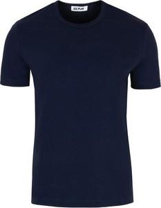 Niebieski t-shirt Ice Play w stylu casual