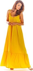 Sukienka Awama na ramiączkach oversize maxi