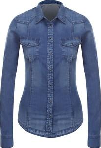 Koszula Guess Jeans z długim rękawem z tkaniny