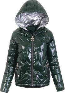 Zielona kurtka fasoni.pl w stylu casual krótka