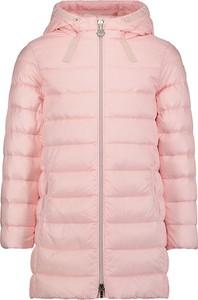 Różowy płaszcz dziecięcy Moncler