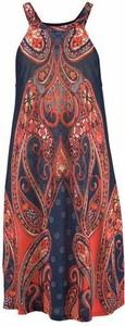 Bordowa sukienka lascana