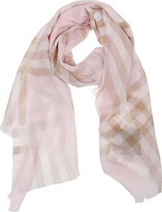 Różowy szalik Burberry