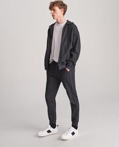 Czarne spodnie Reserved z bawełny
