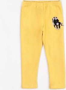 Żółte legginsy dziecięce Multu